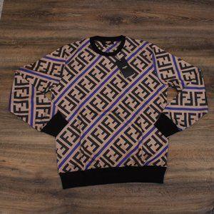 Fendi Roma Men's FF Diagonal Print Sweatshirt